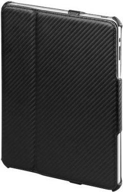 Beskyttelsescover til iPad 2 - Karbon style m. deskstand