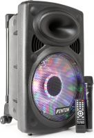 "FPS12 Portable Sound System 12"" Bluetooth /MP3/USB/SD/VHF/LED"