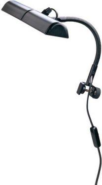 K&M nodelampe dobbelt, med svanehals, sort