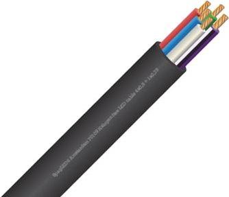 Velleman - RGBW ledning til LED strips - 4x0,5mm²+1x0,75mm² (metervare)