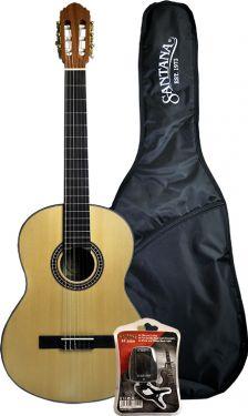 Santana B8 klassisk 4/4 guitar, taske & tuner, Satin