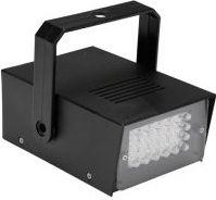 HQ Power - LED mini stroboskop - 24 x hvide LEDs, batteridrevet