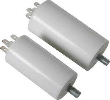 MOTOR kondensator - 40uF / 450V, M8 forskruning, Spadestik