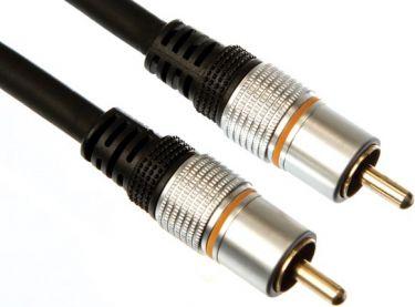 Velleman - Audio subwoofer kabel - 2 x RCA(Phono) han (1,5m)