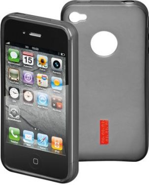 GOOBAY - TPU cover til iPhone 4/4s - Soft Touch, Sort