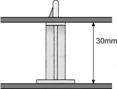 Selvklæbende printholder - Hul Ø4mm, H=20mm