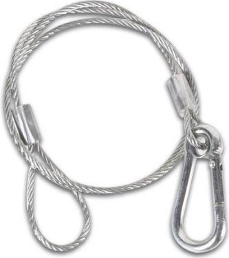 PVC belagt sikkerhedswire (Ø3,2mm x 86cm, 50kg)