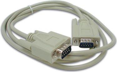 Seriel kabel - SUBD9 han til SUBD9 han, Beige (10m)
