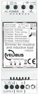 Velbus - VELBUS - Lysdæmper til induktiv / resistiv belastning (400W)