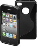 GOOBAY - TPU cover til iPhone 4/4s - Side Grip, Sort