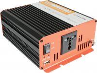 """Inverter """"soft start"""" fra 12V til 230V / 600W, modificeret sinus (kan ikke bruges til bærbar pc)"""