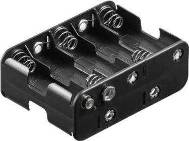 Batteriholder til 10 x AA bat. (m. knapterminaler)