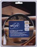 VelLight - LED stripsæt (IP61) - 180 Varm Hvid LED m. strømfors. (3m)