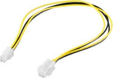 Intern PC strømforlængerkabel - P4 hun til P4 han (37cm)