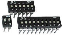 DIP kontakt - 8 x ON-OFF | 50V/0,1A | Lav profil