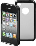 GOOBAY - Hard cover til iPhone 4/4s m. silikone bumper - Sort