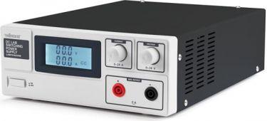 Velleman - Laboratorie strømforsyning - 0-30V / 0-20A m. LCD display