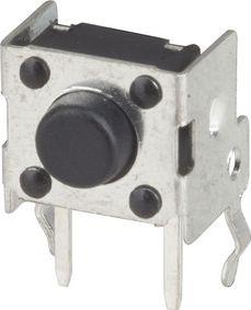 Tactile mikrotrykkontakt - 6 x 6mm, Retvinklet 1mm
