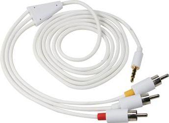 A/V kabel til iPod/iPhone - 4P JACK han til 3xPhono han (2m)