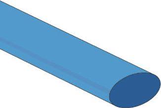 Velleman - Krympeflex 2:1 - 12,7mm BLÅ (1,2m)