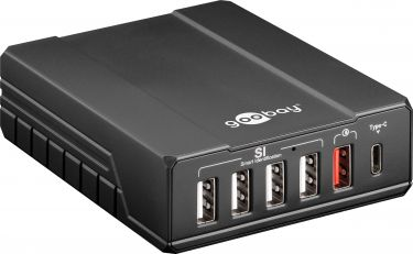 GOOBAY - USB ladestation, Intelligent - 6 porte, 5V / 10A