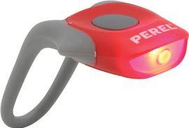 PEREL - Cykellygte med 1 SUPER kraftig rød LED