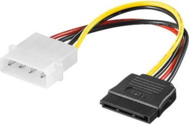 Intern PC SATA strømadapterkabel - 4P ATX til 15P SATA