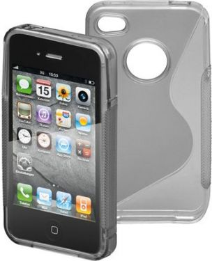 GOOBAY - TPU cover til iPhone 4/4s - Side Grip, Grå