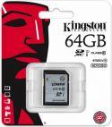 Kingston - SD kort - 64GB SDXC Class 10 UHS-I 45MB/s