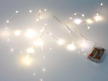 Velleman - LED lyskæde - 20 Varm hvide LED pærer (2,2m)