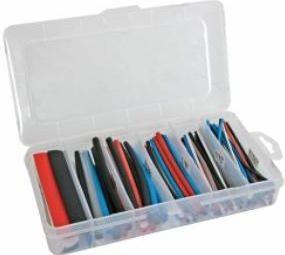 Velleman - Krympeflex-sæt - Flerfarvet 10cm - 170 stk. i plastboks