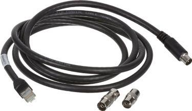 Lauritz Knudsen - IHC net kabel for Radio+TV - COAX til RJ45, Sort (2m)