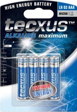 Tecxus - Tecxus - Alkaline AA/LR6 batteri 1,5V (4 stk.)
