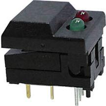 SP86-B3-5-13 DIGITAST sort rød/grøn LED