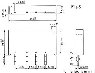 Brokobling - 250V / 1,5A (flad)
