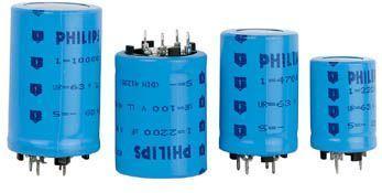 10000uF / 40V lodret elektrolyt, metal