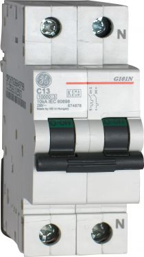 General Electric - Automatsikring - 1P+N 13A/C 10KA 2 modul