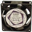 SUNON - Sunon blæser - 80x80x25mm 230V m. glideleje, 2 ledn.