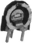 PIHER - Lodret trimmepotmeter - 100 Kohm, lille 10mm