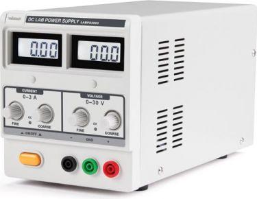 Velleman - Laboratorie strømforsyning - 0-30V / 0-3A m. sikkerhedsbøsn.
