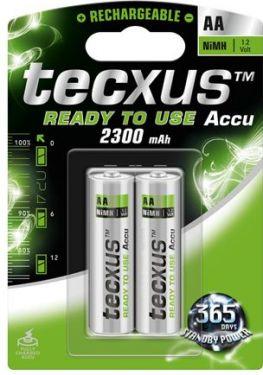 Tecxus - Tecxus - NiMH AA/HR6 batteri 2300mAh, ReadyToUse™ (2 stk.)