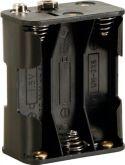 Batteriholder til 6 x AA bat. (m. knapterminaler)
