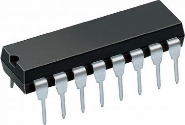 74HC595 8 bit shift register w. latch (DIP16)