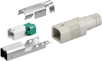 USB B hanstik - Til loddefri ledningsmontage
