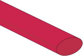 Velleman - Krympeflex 2:1 - 12,7mm RØD (1,2m)