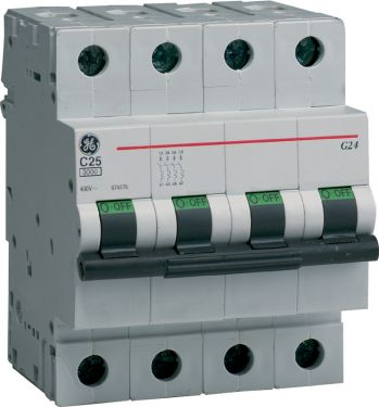 General Electric - Automatsikring - 3P+N 13A/C 10KA 4 modul