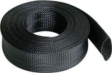 Kabelsok - Fleksibel 40mm bredde, Sort (5m længde)