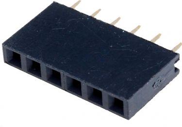 Enkelt-række Pin header - Han/hun 2,54mm 6 pins