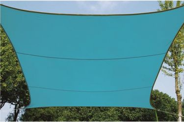 PEREL - Firkantet solsejl - 5 x 5m, Himmelblå