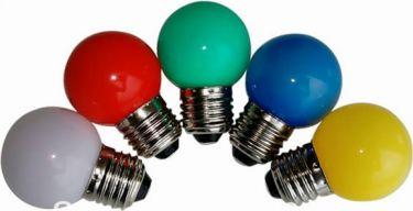 E27 LED pære - 230VAC / 1W, G45, Gul